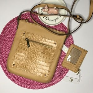 Charming Charlie Cross body & Card/Coin holder Tan